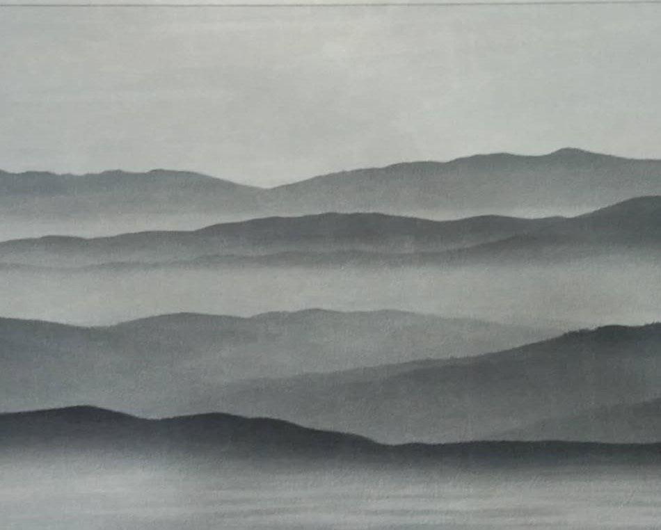 云山夹画玻璃