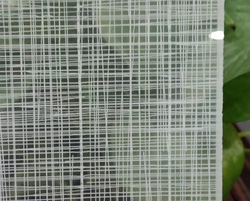 超白网格玻璃