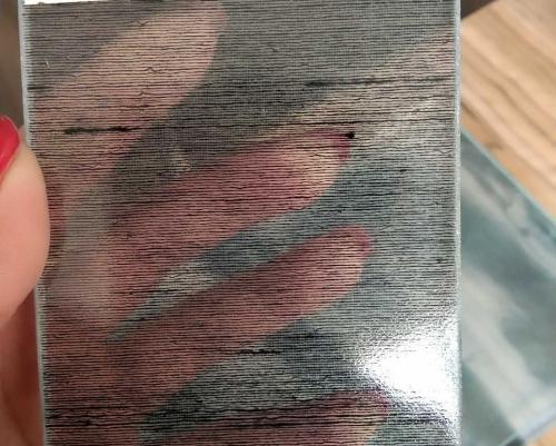 超白酸容横纹玻璃