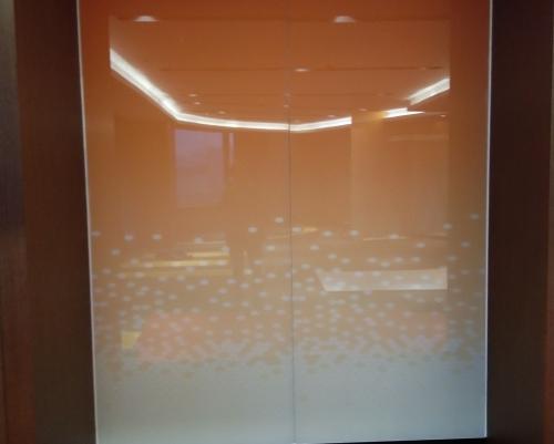 橙色渐变玻璃